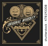 old whiskey label   Shutterstock .eps vector #478193308