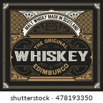 whiskey label with old frames | Shutterstock .eps vector #478193350