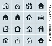 home icons set  homepage  ... | Shutterstock .eps vector #478197460