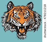 tiger face | Shutterstock .eps vector #478211218