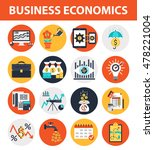 business economics icons.modern ... | Shutterstock .eps vector #478221004