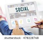 social network online... | Shutterstock . vector #478228768