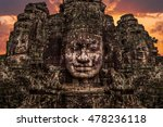 the stone faces of the bayon in ... | Shutterstock . vector #478236118