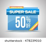 sale vector banner template... | Shutterstock .eps vector #478239010