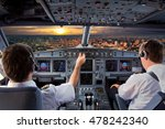 cockpit view of modern airplane ... | Shutterstock . vector #478242340
