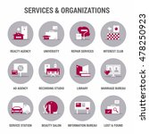 icons set of services and... | Shutterstock .eps vector #478250923