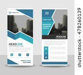 blue roll up business brochure... | Shutterstock .eps vector #478260139