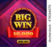 big win background. gambling... | Shutterstock .eps vector #478266070