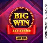 big win background. gambling... | Shutterstock .eps vector #478266070