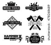 emblem repair workshop and tool ... | Shutterstock .eps vector #478268689