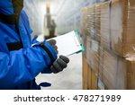 closeup shooting hand of worker ... | Shutterstock . vector #478271989