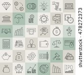modern thin line icons set of... | Shutterstock .eps vector #478272373