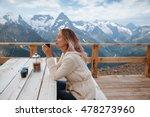 woman drinking warm tea in the... | Shutterstock . vector #478273960