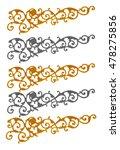 ornament elements frame ... | Shutterstock . vector #478275856