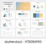 vector set of presentation...