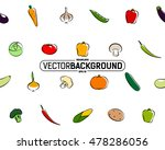 seamless texture of vegetables | Shutterstock .eps vector #478286056