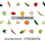 seamless texture of vegetables | Shutterstock .eps vector #478286056