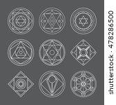 alchemical round set. white... | Shutterstock .eps vector #478286500