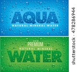 aqua natural mineral water... | Shutterstock .eps vector #478286944