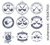 set of pipe club label and... | Shutterstock .eps vector #478287010