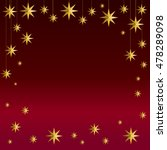 gold stars on velvet red... | Shutterstock .eps vector #478289098