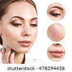 beautiful girl with clear skin | Shutterstock . vector #478294438