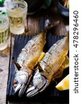 mackerel   a grill with braised ... | Shutterstock . vector #478296460
