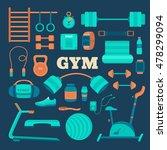 set of fitness equipment. big...   Shutterstock .eps vector #478299094