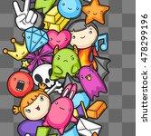 game kawaii seamless pattern.... | Shutterstock .eps vector #478299196