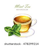 hand drawn watercolor... | Shutterstock . vector #478299214