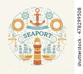 vector concept with sea symbols.... | Shutterstock .eps vector #478299508