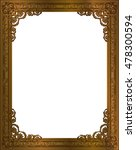 gold photo frame with corner... | Shutterstock .eps vector #478300594