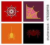 assembly flat icons halloween...   Shutterstock .eps vector #478308958