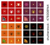 assembly flat icons halloween... | Shutterstock .eps vector #478308964