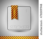 business stickers on the gray...   Shutterstock .eps vector #478309948