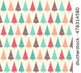 seamless pattern with christmas ... | Shutterstock .eps vector #478314580