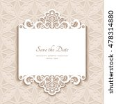 cutout paper lace frame ... | Shutterstock .eps vector #478314880