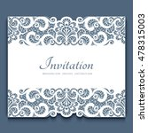 elegant cutout paper frame with ... | Shutterstock .eps vector #478315003
