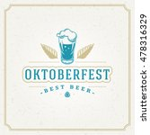 oktoberfest greeting card or... | Shutterstock .eps vector #478316329