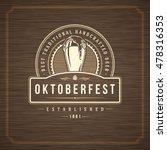 oktoberfest greeting card or... | Shutterstock .eps vector #478316353