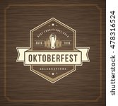 oktoberfest greeting card or... | Shutterstock .eps vector #478316524