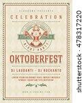 oktoberfest beer festival... | Shutterstock .eps vector #478317220