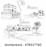 hand drawn architecture sketch... | Shutterstock .eps vector #478317760