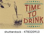 alcoholic drink is poured from... | Shutterstock .eps vector #478320913