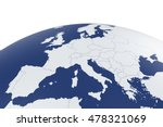 3d Render Of Europe Map Earth...