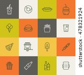 take away food linear icons.... | Shutterstock .eps vector #478321924