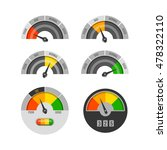 credit score indicators vector... | Shutterstock .eps vector #478322110