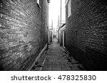 narrow small empty streets of... | Shutterstock . vector #478325830