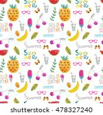 summer seamless pattern with... | Shutterstock . vector #478327240