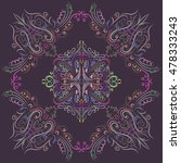 decorative mandala. vector...   Shutterstock .eps vector #478333243